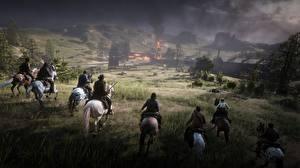 Hintergrundbilder Red Dead Redemption 2 Hauspferd 3D-Grafik