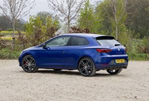 Hintergrundbilder Seat Blau Metallisch Coupe Seitlich Leon, SC, Cupra, 300, UK-spec