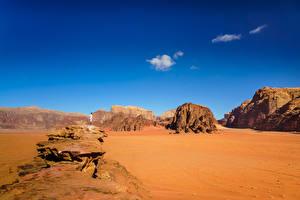 Fotos Himmel Wüste Gebirge Sand Wadi Rum Village, Jordan Natur