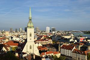 Desktop wallpapers Slovakia Church Building Bratislava Cities