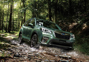 Wallpapers Subaru Green Crossover 2019-20 Forester X-Edition auto