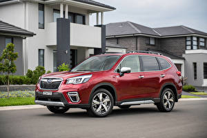Picture Subaru Wine color CUV 2020 Forester Hybrid S automobile