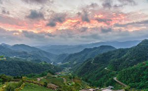 Photo Taiwan Landscape photography Mountains Sky Fields Forest Taipei Nature