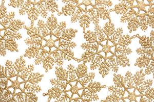 Image Texture Snowflakes Gold color