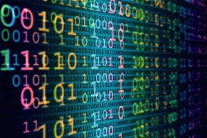 Fotos Textur binary code, sequence