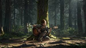 Image The Last of Us 2 Trunk tree Guitar Sit Ellie vdeo game