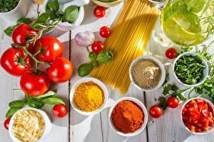 Hintergrundbilder Tomate Gewürze Öle Makkaroni Lebensmittel