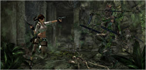 Photo Tomb Raider Tomb Raider Anniversary Pistol Lara Croft Swords Run 3D_Graphics Girls