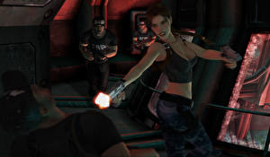 Sfondi desktop Tomb Raider Tomb Raider The Angel of Darkness Pistole Un uomo Lara Croft Grafica_3D Ragazze
