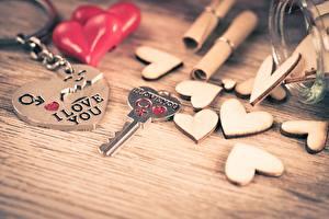 Fotos Valentinstag Schlüssel Herz Souvenirs Wort Englisch I love You