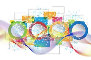 Fonds d'écran Image vectorielle Coloré Fond blanc Cercle