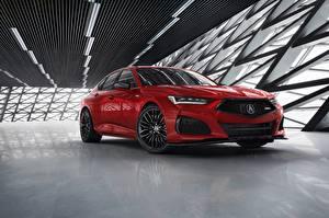 Hintergrundbilder Acura Limousine Rot Metallisch TLX, Type S automobil