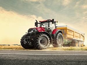 Hintergrundbilder Landwirtschaftlichen Maschinen Traktoren 2018-20 Case IH Optum 250 CVT-CVX