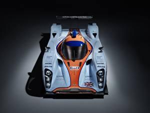 Hintergrundbilder Aston Martin Von oben DBR1-2, LMP1, Sports prototype, 24 Hours of Le Mans Autos