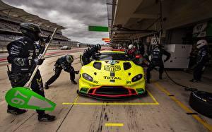 Hintergrundbilder Aston Martin Vorne Rallye Vantage GTE, FIA World Endurance Championship automobil Sport
