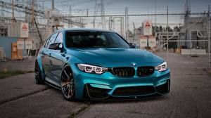 Papel de Parede Desktop BMW Metálico Celeste M3 Carros