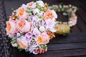 Bakgrundsbilder på skrivbordet Blomsterbukett Närbild Bröllop Blommor