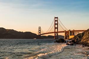Pictures Bridges USA San Francisco Golden Gate Bridge Nature