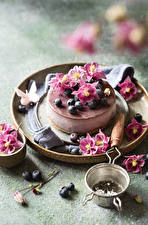 Wallpapers Cakes Blueberries Design Petals Food pictures images