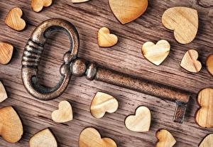 Bakgrundsbilder på skrivbordet Närbild Alla hjärtans dag Hjärta Nyckel