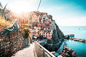 Picture Coast Italy Building Liguria La Spezia Cities