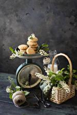 Hintergrundbilder Kekse Weidenkorb Ast das Essen