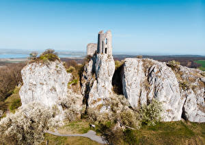 Wallpapers Czech Republic The Ruins Crag Orphan's Castle, Moravia Nature