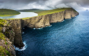 Hintergrundbilder Dänemark Küste Ozean See Felsen