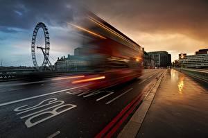Fotos England Omnibus Wege London Geschwindigkeit Städte
