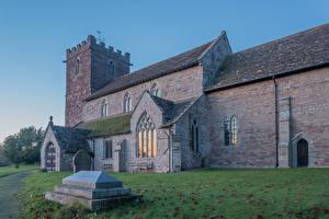 Hintergrundbilder England Tempel Kirche Almeley Church Städte