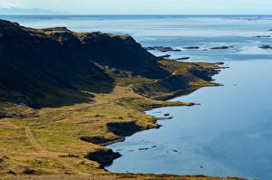 Bilder Island Küste Gebirge Horizont Natur