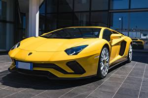 Bilder Lamborghini Gelb Coupe Aventador S