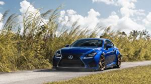 Bilder Lexus Coupe Blau Metallisch RC F auto