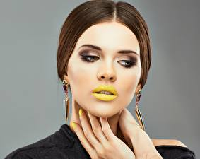 Image Lips Modelling Hairstyle Makeup Hands Manicure female