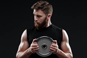 Images Man Bearded Hands Muscle Black background