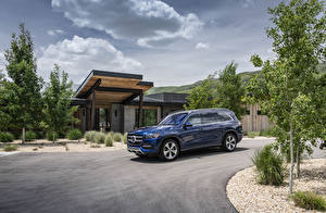 Photo Mercedes-Benz Blue Metallic 2020 GLS 450 4MATIC automobile