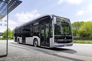 Fondos de escritorio Mercedes-Benz Autobús Plata color eCitaro el carro