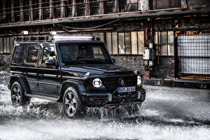 壁紙,梅賽德斯-賓士,梅賽德斯-賓士G系列,运动型多用途车,黑色,金屬漆,2020 Brabus Invicto VR6 Plus ERV Mission,汽车,