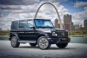 Wallpaper Mercedes-Benz G-Wagen Sport utility vehicle Blue 2020 Klassen AMG G 63 Bunker automobile
