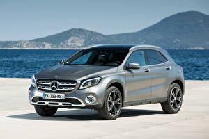 Fondos de escritorio Mercedes-Benz Plata color Metálico Crossover GLA 220 d, 4MATIC, Worldwide, X156 el carro