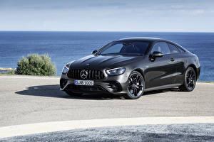 Fondos de escritorio Mercedes-Benz Gris Coupe  Coches imágenes