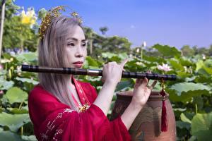 Bakgrunnsbilder Musikkinstrument Asiater Hender Mørk blond