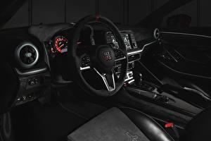 Desktop hintergrundbilder Nissan Salons Lenkrad R35, Nismo, ItalDesign, 2020, V6, GT-R50 Autos