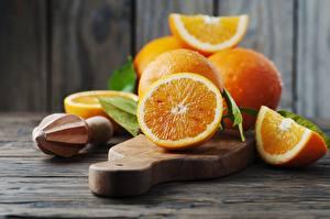 Wallpaper Orange fruit Cutting board Leaf Food