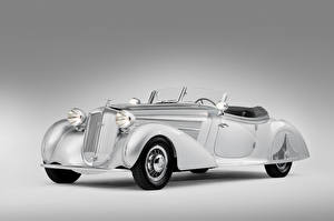 Images Vintage Gray background Roadster Horch 853 Special Roadster by Erdmann 1938 Cars