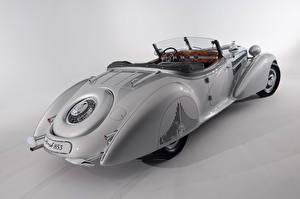 Photo Vintage Roadster Gray background Horch 853 Special Roadster by Erdmann Rossi 1938 auto