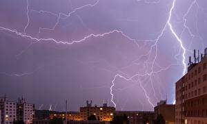 Bilder Himmel Haus Naturkraft Nacht Blitz