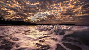 Hintergrundbilder Himmel Wasserwelle Meer Wolke Schaum