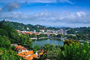 Hintergrundbilder Sri Lanka Gebäude Bäume Kandy Natur