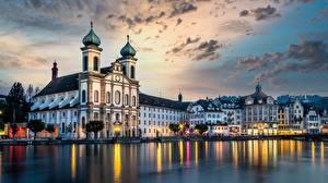 Bilder Schweiz Gebäude Kirchengebäude Luzern, Jesuitenkirche